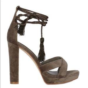 Joie green velvet sandals